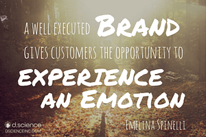 A well executed brand gives the customers an opportunity to experience an emotion